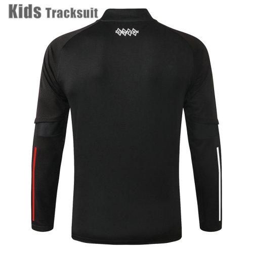 Kids Bayern Munich 20/21 Drill Tracksuit Black E465#