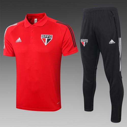 Sao Paulo 2020 Pre-Match Polo Kit Red C446#