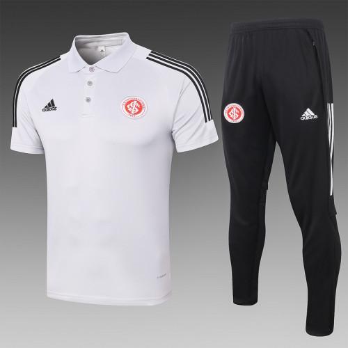 Sport Club Internacional 2020 Pre-Match Polo Kit Light Grey C478#