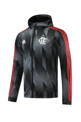 Flamengo 2021 Windbreaker Black and Grey