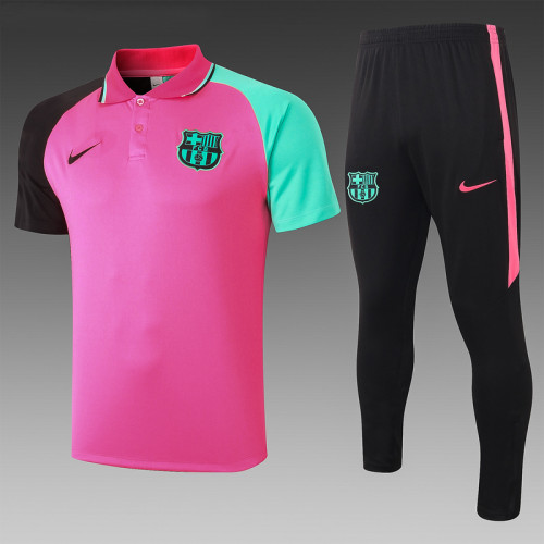 Barcelona 20/21 Pre-Match Polo Kit Pink C595#