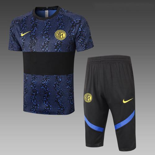 Inter Milan 20/21 Drill Kits Bright Blue and Black D553#