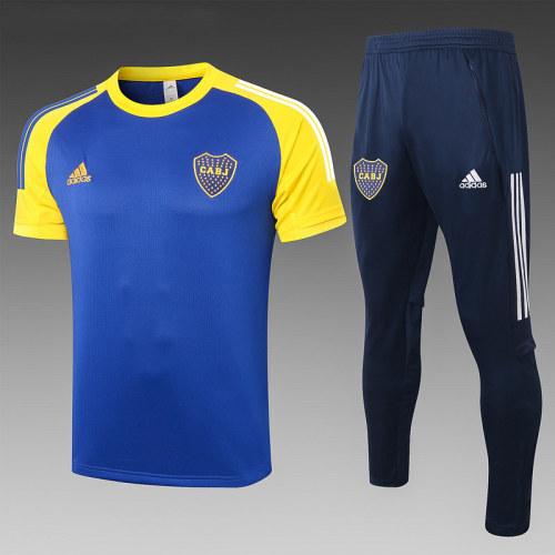 Boca Juniors 2020 Training Kit Navy and Yellow C597#