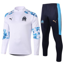 Olympique Marseille 20/21 Drill Tracksuit White B406#