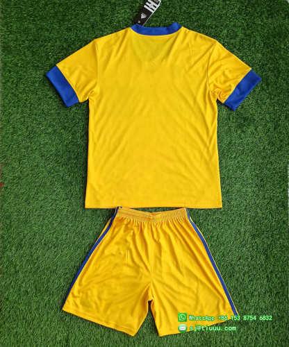 Kids Tigres UANL 2021 Home Soccer Jersey and Short Kit