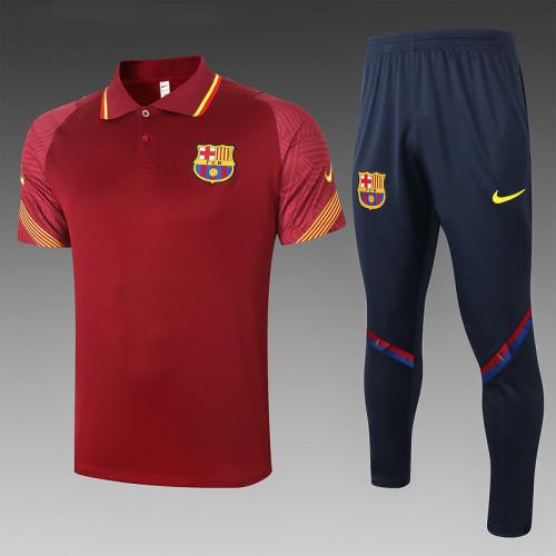 Barcelona 20/21 Pre-Match Polo Kit Purplish Red C555#