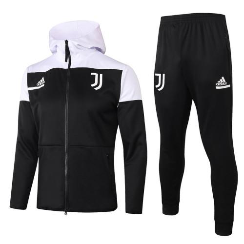 Juventus 20/21 Full-Zip Hoodie Tracksuit Black F275#