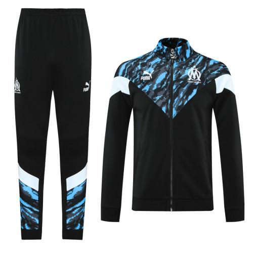 Olympique Marseille 21/22 Jacket Tracksuit Black CX05