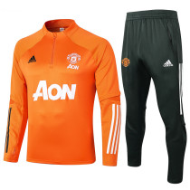 Manchester United 20/21 Drill Tracksuit Orange B418#