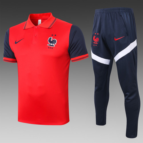 France 20/21 Pre-Match Polo Kit Red C493#