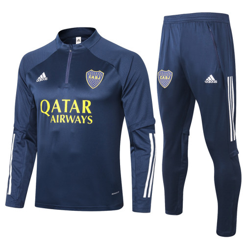 Boca Juniors 20/21 Drill Tracksuit Navy B382#