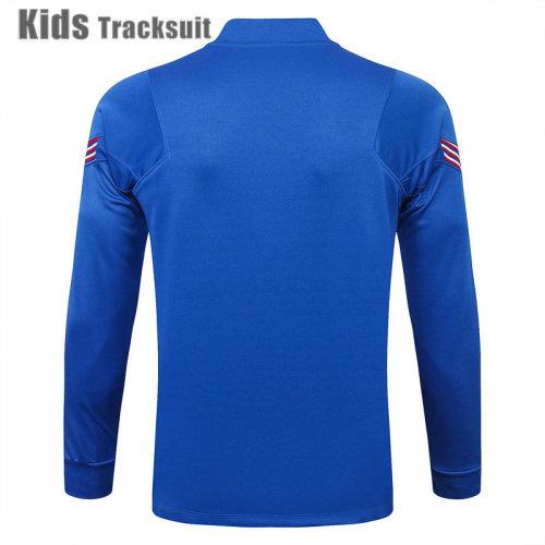 Kids England 2021 Drill Tracksuit Bright Blue E444#
