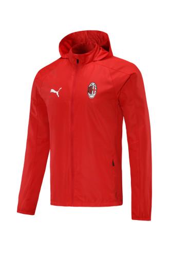 AC Milan 21/22 Windbreaker Red