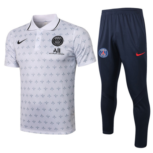 Paris Saint-Germain 21/22 Pre-Match Polo Kit White C626#