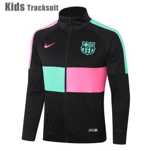 Kids Barcelona 20/21 Jacket Tracksuit Black E344#