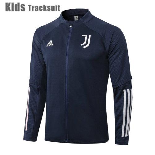 Kids Juventus 20/21 Jacket Tracksuit Navy E487#
