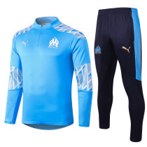 Olympique Marseille 20/21 Drill Tracksuit Light Blue B414#