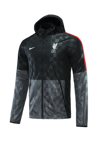 Liverpool 21/22 Windbreaker Black and Grey