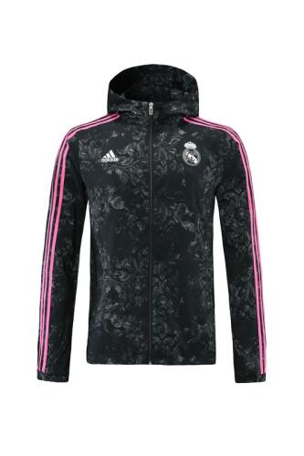Real Madrid 21/22 Windbreaker Black