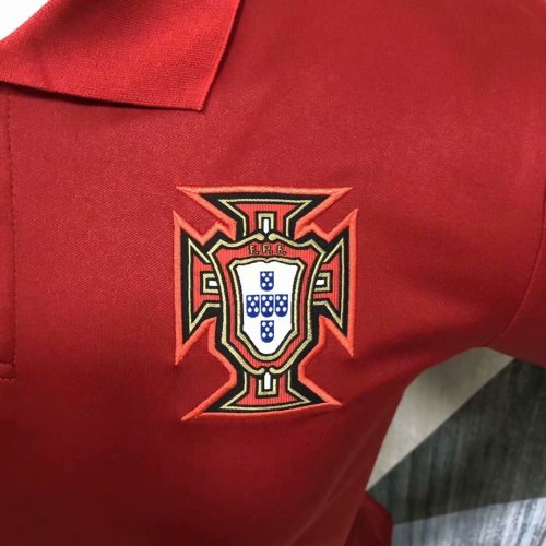 Portugal 2021 Pre-Match Polo Shirt Red