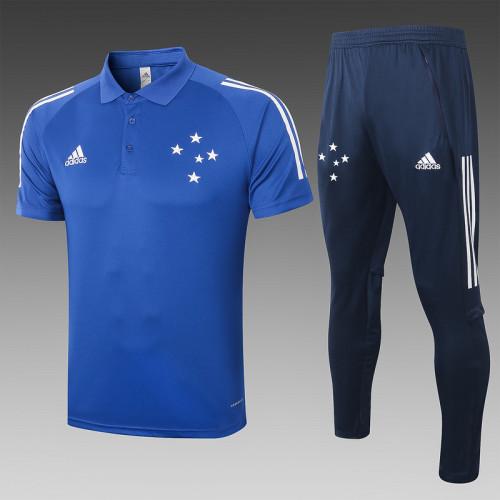 Cruzeiro 2020 Pre-Match Polo Kit Bright Blue C447#