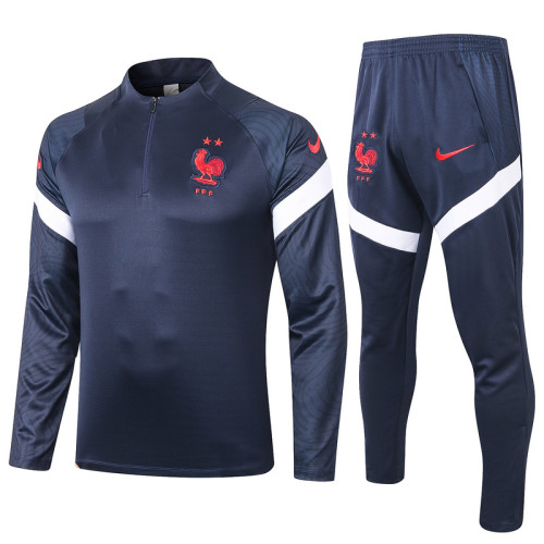 France 20/21 Drill Tracksuit Navy B392#