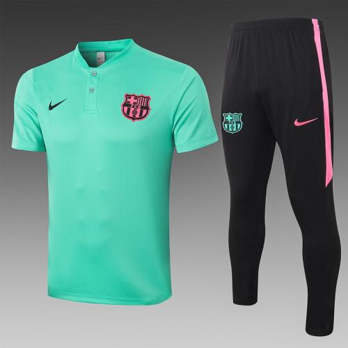 Barcelona 20/21 Pre-Match Polo Kit Light Green C457#