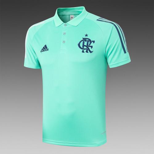 Flamengo 2020 Pre-Match Polo Kit Green C456#