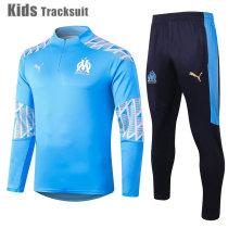Kids Olympique Marseille 20/21 Drill Tracksuit Light Blue E469#