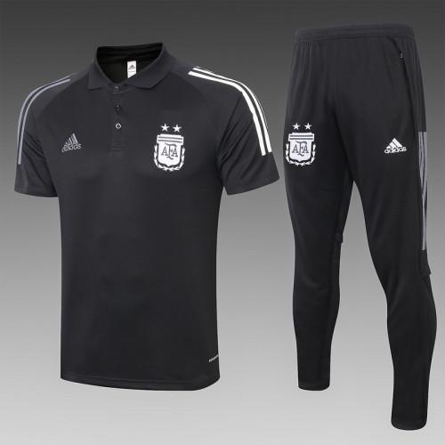 Argentina 20/21 Pre-Match Polo Kit Black C471#