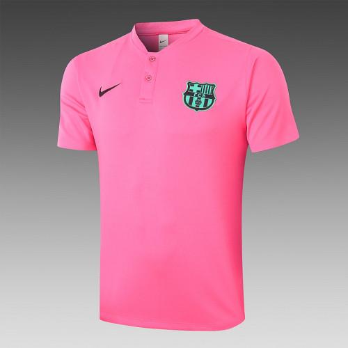 Barcelona 20/21 Pre-Match Polo Kit Pink C453#