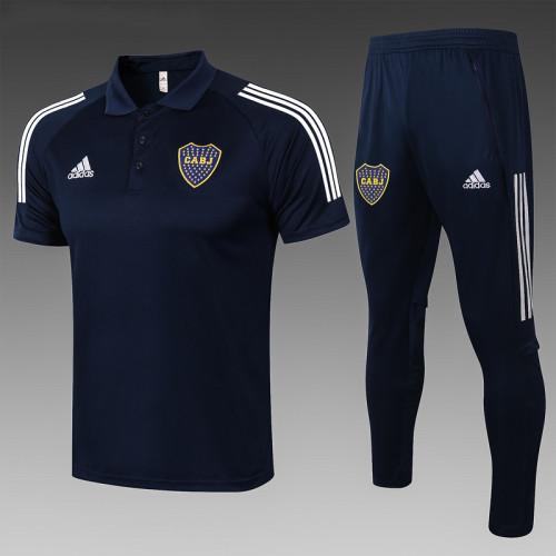 Boca Juniors 2020 Pre-Match Polo Kit Navy C606#