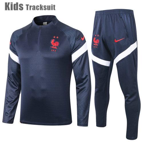 Kids France 2021 Drill Tracksuit Navy E441#