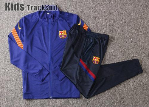 Kids Barcelona 20/21 Jacket Tracksuit Bright Blue E460#