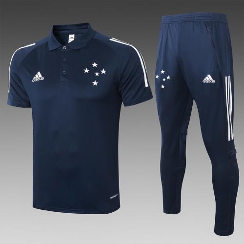 Cruzeiro 2020 Pre-Match Polo Kit Navy C445#