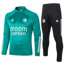 Feyenoord Rotterdam 20/21 Drill Tracksuit Green B422#