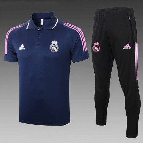 Real Madrid 20/21 Pre-Match Polo Kit Navy C592#