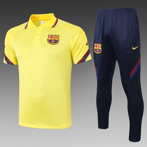 Barcelona 20/21 Pre-Match Polo Kit Yellow C490#