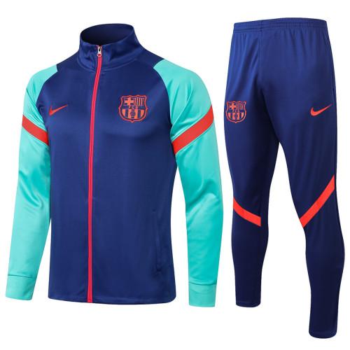 Barcelona 21/22 Jacket Tracksuit Bright Blue A413#