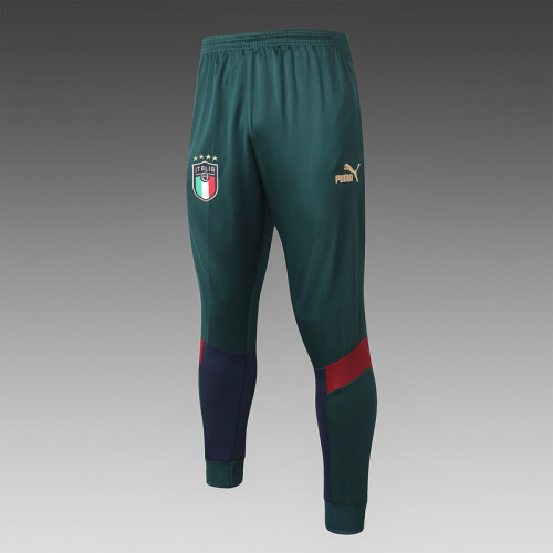 Italy 20/21 Pre-Match Polo Kit Dark Green and Navy C441#
