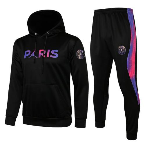 Paris Saint-Germain 21/22 Full-Zip Hoodie Tracksuit Black F302#