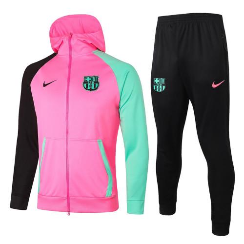 Barcelona 20/21 Full-Zip Hoodie Tracksuit Light Pink F284#