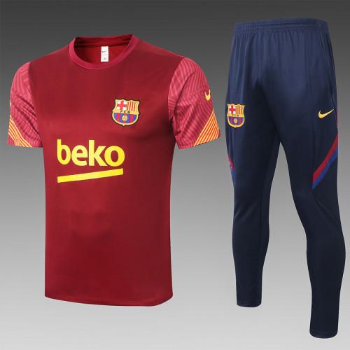 Barcelona 20/21 Training Kit Purplish Red C460#