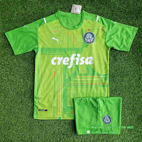 (Discount) Palmeiras 2021 Goalkeeper GK1 Jersey and Short Kit