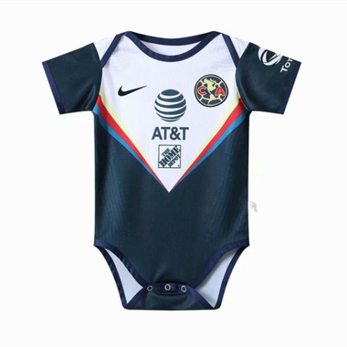 Club América 20/21 Infant Rompers-White and Navy