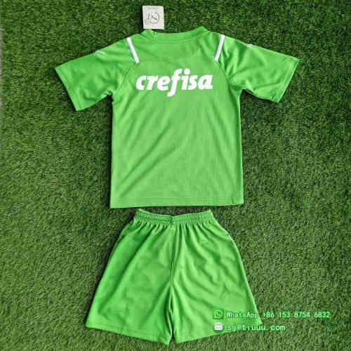 (Discount) Kids Palmeiras 2021 Goalkeeper GK1 Jersey and Short Kit