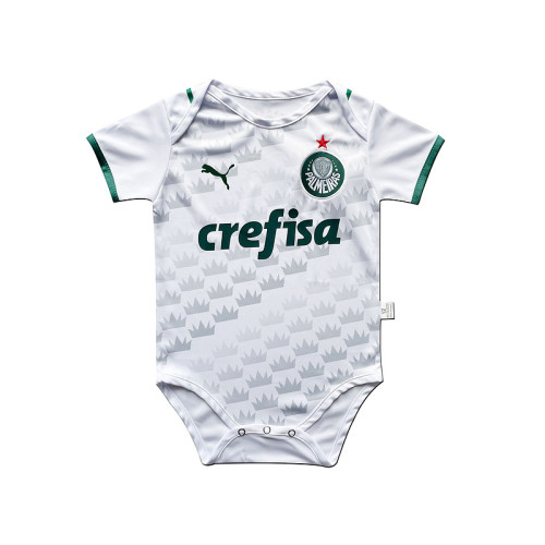 Palmeiras 2021 Infant Rompers-White