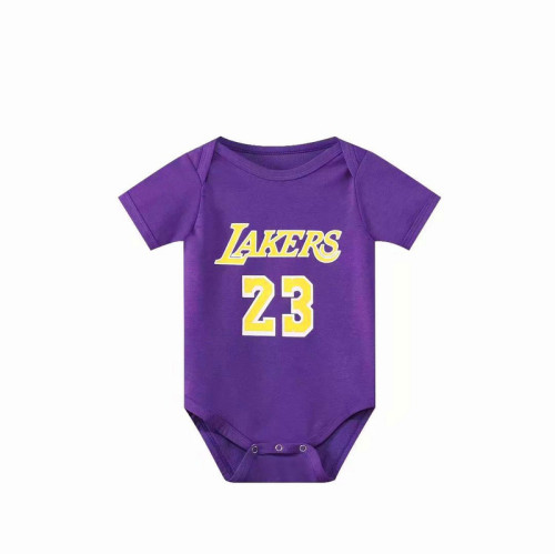 Los Angeles Basketball Club Team Infant Rompers - Purple