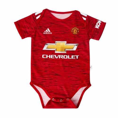 Manchester United 20/21 Infant Rompers-Red