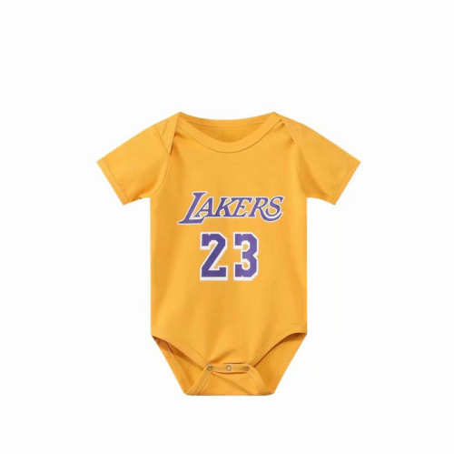 Los Angeles Basketball Club Team Infant Rompers - Yellow